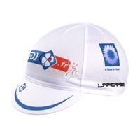 Caps Men Cycling Wholesale-2015 FDJ white cloth cap cycling hats outdoor  riding hat cycling 9c362ac9a