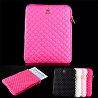 10'' bling business - Universal iPad Leather Case Luxury Crown Bling Rivet Zipper Cover Bag Pouch for iPad air Mini