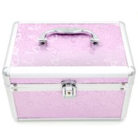 Wholesale Animal Print Make Up Case - Makeup Kit Case Professional Make Up Box 1 set lot Cosmetic Bags Cosmetic Case 240*160*150 mm