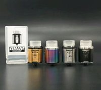 Wholesale Drip Drop - High quality Digiflavor DROP RDA Tank Rebuildable Drip Atomizer with 4 Large Post Holes For Easy Coil Replacement BF pin RDA