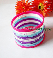 Wholesale Silicone Wristband 5mm - Wholesale-2015 New Fashion 40pcs lot Music Super Star Violetta 5mm colorful Silicone Rubber Bracelet Wristbands Jewelry Gift free shipping