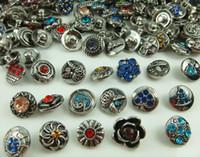 Wholesale Cz Bracelet Connector - mixes fashion High quality cz series Alloy Chunk Snap Button charm for NOOSA bracelet Jewelry Accessories charm Wholesale lot 12mm