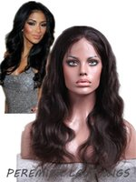 """Wholesale Hand Tied Weft Hair Remy - 2015 New Gorgeours In Stocking Top Quality Indian Remy Human Hair Lace Weft Wigs Natural Wave 8-24"""" Natural Color Free Shipping"""