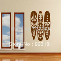 Wholesale Mask For Wall - Home Decor Wall Sticker Hot African Mask Set Huge Vinyl Wall Art Sticker Decal DIY Home Decoration Wall Mural Removable Decor Bedroom