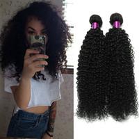 Wholesale 6a brazilian virgin hair kinky for sale - Group buy Brazilian Kinky Curly Hair Weaves Natural Black Color A Brazilian Curly Virgin Human Hair Weave Virgin Curly Human Hair Extensions On Sale