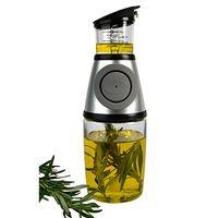 Wholesale Glass Oil Cruets - New Press & Measure Oil Control Dispenser Cruet Kitchen Cooking Gray Bottle