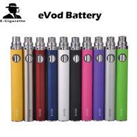 evod batterie zerstäuber elektronische zigarette großhandel-eGo eVod Batterie 650/900 / 1100mAh verschiedene Farbe Elektronische Zigaretten Batterien Fit MT3 CE4 DCT VIVI NOVA Protank Zerstäuber Vs Evod Twist