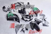 injeção personalizada venda por atacado-Pintado todo preto verde pontilhada moldagem por injeção personalizada carenagem Kawasaki ZX-14R Ninja 2012-2014 12