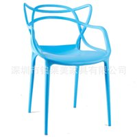 outdoor stacking chair - Mixed batch of new plastic chairs outdoor leisure furniture designer and creative personality fashion chair stacking chair coffe