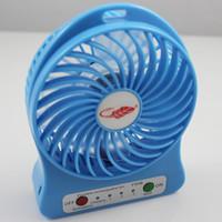 secretária mecânica venda por atacado-F95B Mini Protable Fan Multi Funcional Rechargerable USB Mesa Mesa Dos Miúdos Ajustável 3 Velocidade com Luz LED Acampamento Ao Ar Livre Crianças Caminhadas
