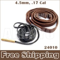 Wholesale Bore Snake 17 - Armiyo New Bore Snake Cleaner 4.5mm, .17 Cal 24010 Hunter Hunting Cleaning Tool No Package No Carton Free Shipping