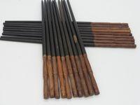 Wholesale Mahogany Chopsticks - Solid wood chopsticks, high-grade mahogany rosewood ebony chopsticks mosaic natural wood color wax-free paint