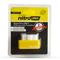 vw güç yongası toptan satış-Yeni Varış NitroOBD2 Benzin Araba Chip Tuning Kutusu Fiş ve Sürücü OBD2 Chip Tuning Kutusu Daha Fazla Güç / Daha Tork