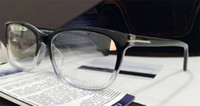 Wholesale Square Clear Plastic Boxes - New designer optical glasses square glasses frame simple casual style transparent lens top quality clear eyewear with original box 5405