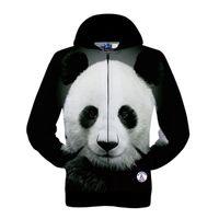 Wholesale Men Panda Suits - Men Hoodies 3D Panda Logo Pattern Design 2015 New Arrival Sport Suit Hoodies Men Fitness Sport Suit Brand Gym Sweatshirt Running