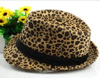 Wholesale medium hat size - 2018 New Arrival Popular Leopard print caps white grey fitted caps fashion caps medium size for almost 4 colors