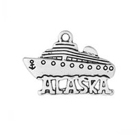 carved alaska - Dorabeads Charm Pendants Cruises Boat Antique Silver quot Alaska quot Carved mm x mm