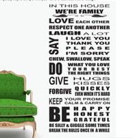 Wholesale Decorative Wall Vinyl - we are family home decor quote wall decal decorative wall decor removable vinyl wall sticker