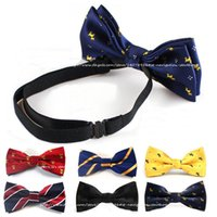 Wholesale Boys Yellow Bowtie - Retail Boys Bow Ties Baby Children Students Pre-tied Adjustable Elastic Band New Style Bowtie Kids Bow Ties Free Shippnig 1 PCS