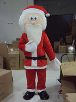 Wholesale hot santa costume - 2018 Hot sale beautiful Santa Claus cartoon doll Mascot Costume Free shipping