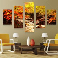 pain nature - 5 Panel Art Scenery Paintings Nature Decoration Wall Scenery Paining Canvas Picture Cuadros For Living Room Unframed PRL1013