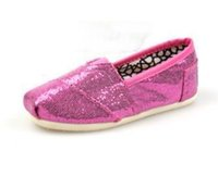 Wholesale 2015 NEW colors Children s or girl s kind s Classic comfortable canvas shoes EVA casual glitter Flat shoes shoe