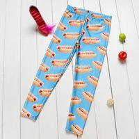 Wholesale Dog Girls Pants - Wholesale-Drop Ship Wholesale 2015 Hot Dog Apparel Boys fingerprint Baby Boy Girl Legging Pants School Sports