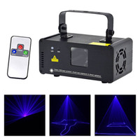 lazer dj toptan satış-AUCD Yeni Mini Taşınabilir 8 CH DMX Mavi Lazer Tarayıcı Etkisi Sahne Aydınlatma DJ Parti Kulübü Gösterisi LED ProjektörLights DM-B150