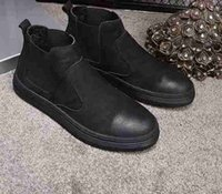 Wholesale Mans Martens - 2017 Newest leather boots Winter ankle Style Dr. Genuine Leather Marten Boots Martin Shoes Men Dr Designer waterproof Boots