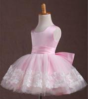 Wholesale Tutu Dresses For Aged 11 - 2015 children under the age of pink flower girl dresses girls dress princess tutu costumes performance clothing for children