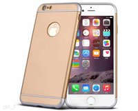 Armure Slim Hybrid Dual Layer antichoc couvrir les cas Apple iPhone 6 6S plus ruban couleur or