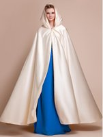 Wholesale Women Ponchos Sale - Elegant Champagne Wedding Cloaks Hooded Long Women Formal Party Accessories Hot Sale Cheap Bridal Capes   Coats   Wraps   Poncho Custom