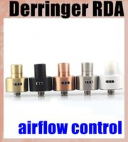 Wholesale Detachable Dripping - High Quality Derringer RDA Atomizers Adjustable Airflow Wide Bore Drip Tips DIY Detachable Metal Dripping Atomizer ATB166