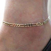 fußkettchenzubehör großhandel-Heiße neue Mode-Accessoires Schmuck Goldkette Fußkettchen Herringbone einstellbare Charme Fußkettchen, Knöchel Bein Armband, Fußschmuck