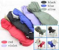 Wholesale Wholesale Ski Coats - Pet Dog Coat Winter Jacket Clothes Classic Hoodies 100% Cotton Winter Skiing Waterproof Outerwear Clothing+ Free Shipping