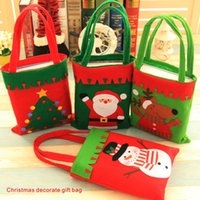 Wholesale Cloth Gift Wrap - Christmas decorate gift bag Children's gift wrapping, Decorations, Christmas atmosphere Santa Claus Snowman Reindeer Christmas tree.