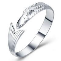 fisch armband china großhandel-Fisch Silber Armband S999 Silber Armband Sterling Silber Schmuck Schmuck einzigen Fisch BraceletJewelry einzigen Fisch Valentinstag Geschenk zu se