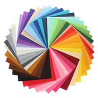 Wholesale Diy Polyester Felt - 20*15CM 40 colors polyester acrylic nonwoven Fabric,needlework,diy,needle,sewing,handmade, non-woven felt fabric Fieltro feltro