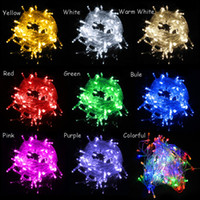 Wholesale Led Star Window Lights - New Christmas Xmas Light 10 meters 100 LEDs LED String lights flash window curtain 110V 220V Holiday Wedding Party Light With Connector