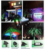 ingrosso proiettori di natale-Luci da palcoscenico laser lucernario Paesaggio Proiettore Green Green Proiettore da giardino con stelle di prato Cielo LED FloodLight Outdoor IP65 impermeabile da DHL