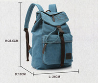 Mochila de lona vintage vintage unisex Travel Camping Treking Satchel College School Bag