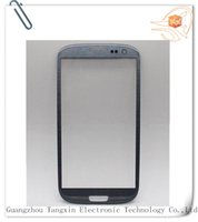 Wholesale S3 Oem Front Glass - Mobile Phone Accessories Parts Mobile Phone Touch Panel OEM high quality front glass for samsung s3 i9300 front glass grey blue with