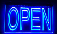 Wholesale pub open signs for sale - Group buy LS004 OPEN Overnight Shop Bar Pub Club Neon Light Sign