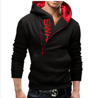 Wholesale 6xl Men Sweaters - Men's Clothing Letters of bump color man fleece side zipper Hoodies & Sweatshirts Jacket Sweater Assassins creed Size M-6XL