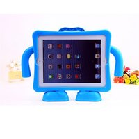 Wholesale Ipad Cover Foam - Portable Shockproof Fall Proof Protection Case Cover Shell For New iPad 2 3 4 With EVA Foam Handle Stand Baby Children Kids Safe