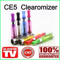 Wholesale E Cigarette Leak - EGO CE5 No Leaking High Quality CE5 Atomizer Atomizers Clearomizer For E cigarette Cigarettes Battery E cig cigs Clearomizers
