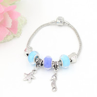 Made In China Jewelry Wholesale Brand New DIY Ocean Beach Style Starfish Charm Bracelets Fit European Charms Frete Grátis