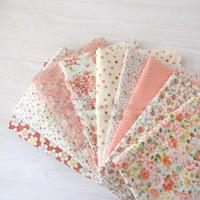 Wholesale Fabrics Tissues Free Shipping - FREE SHIPPING orange Series 160cm*100cm cotton fabric fat quarter bundle patchwork cotton quilting fabric tissue