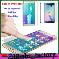 Wholesale Note Screen Parts - Coverage TPU clear Anti-Shock Full cover for iPhone SE 5S 6S Plus Samsung S7 S6 Edge Plus Note 5 Edge Curved Part Screen Protector 50pcs