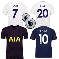 Wholesale Cheap Thailand Jerseys - Cheap Thailand AAA quality 2017 2018 KANE DELE ALLI home away soccer jerseys 17 18 ERIKSEN SON JANSSEN LAMELA football KANE soccer shirts